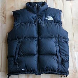 Men's Black The North Face Puffy Vest. XL